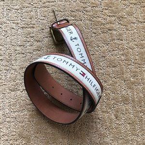 SOLD NWOT Tommy Logo Women's Leather Belt S/M